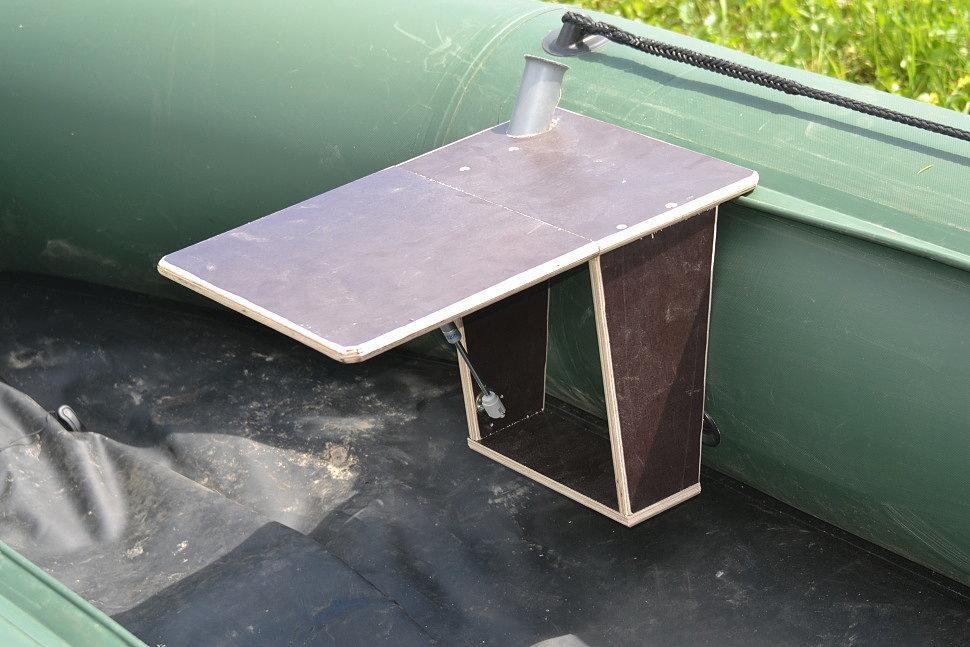 столик в лодку из фанеры пвх своими руками фото